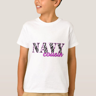 Navy Cousin Zebra T-Shirt