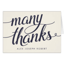 Navy & Cream Calligraphy Personalized Thank You