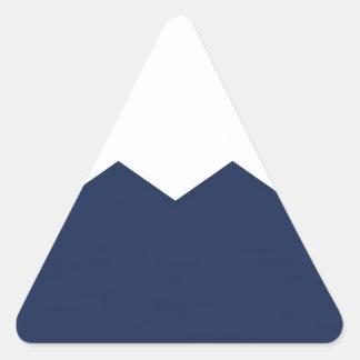 navy cream chevron part triangle sticker