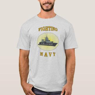 NAVY CROSSING LINE T-Shirt