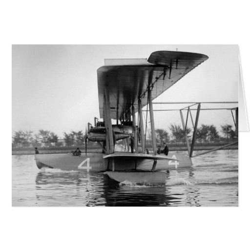 Navy Curtiss NC-4 Flying Boat, 1918 Greeting Cards