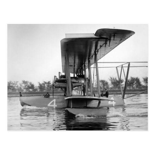Navy Curtiss NC-4 Flying Boat, 1918 Post Card