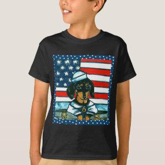 Navy Dachshund T-Shirt