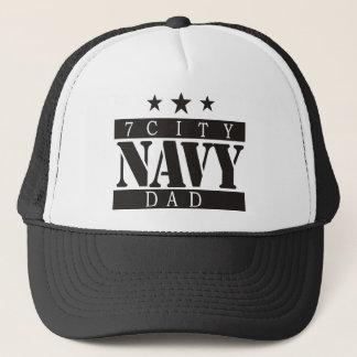NAVY Dad - Black Logo Trucker Hat