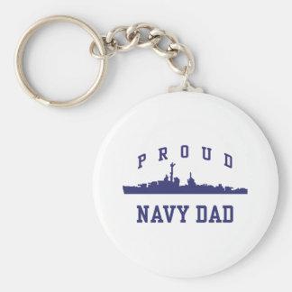 Navy Dad Key Chain