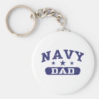 Navy Dad Keychain
