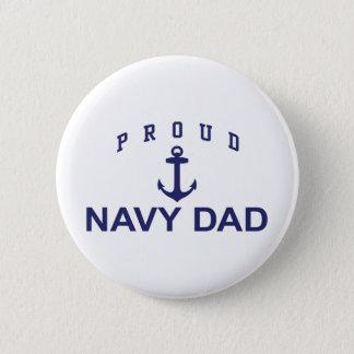 Navy Dad Pinback Button