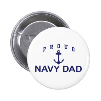 Navy Dad Pinback Button