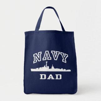 Navy Dad Tote Bag