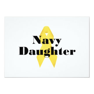 Navy Daughter Ribbon Card