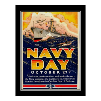 Navy Day Recruitment Drive Vintage Poster