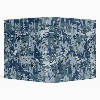 Navy  Digital Camo Camouflage Decor Binder
