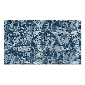 Navy  Digital Camo Camouflage Decor Business Card