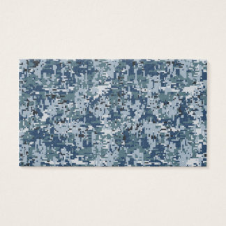 Navy  Digital Camo Camouflage Decor Business Card