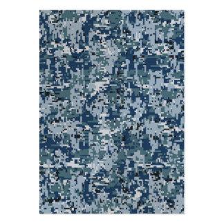 Navy  Digital Camo Camouflage Decor Large Business Card