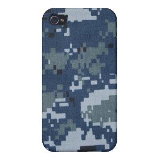 Navy Digital Camouflage iPhone 4 Case