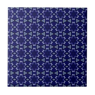 Navy Digital Floral Tiles