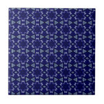 Navy Digital Floral Tiles