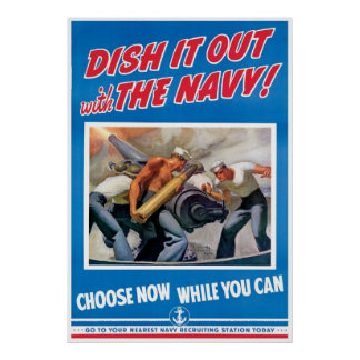 Navy, Dish It Out Poster