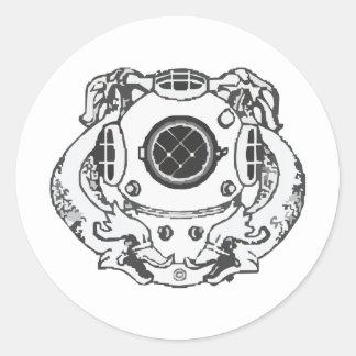 Navy Diver 1st Class Classic Round Sticker