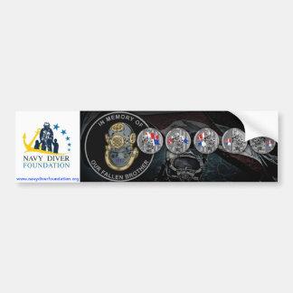 Navy Diver Foundation Bumper Sticker Car Bumper Sticker