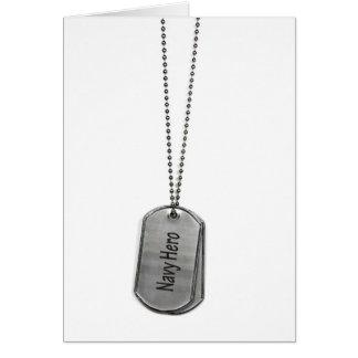 Navy Dog Tag Card