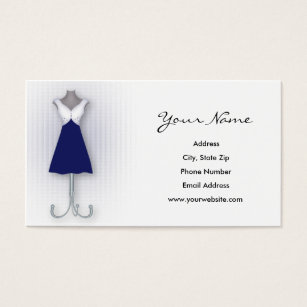 Resale shop gifts on zazzle navy dress business cards reheart Gallery