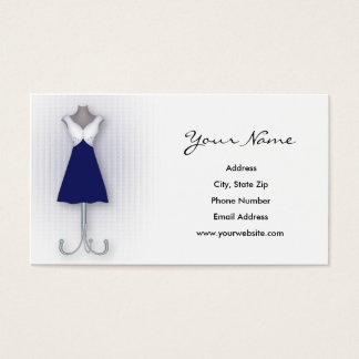 Navy Dress Business Cards