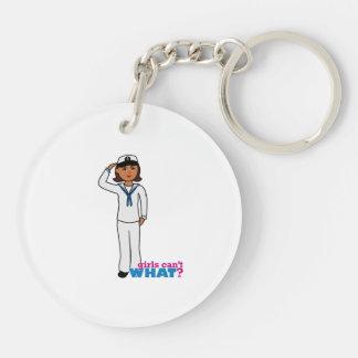 Navy Dress Whites Dark Keychain