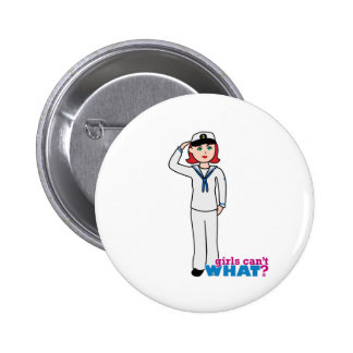 Navy Dress Whites Light/Red Pinback Buttons
