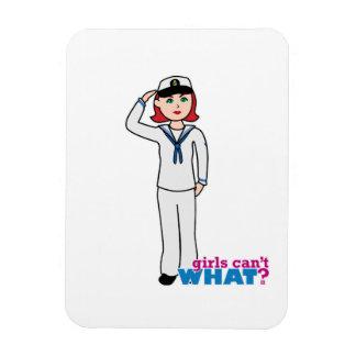 Navy Dress Whites Light/Red Flexible Magnet