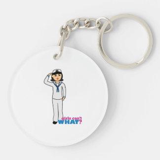 Navy Dress Whites Medium Keychain