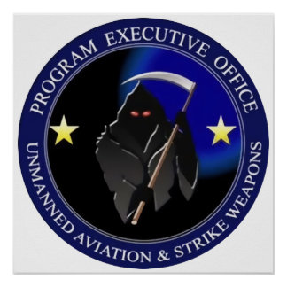 Navy Drone Logo Grim Reaper Poster