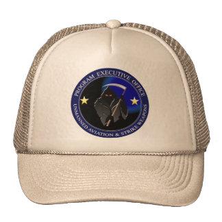 Navy Drone Logo Grim Reaper Trucker Hat