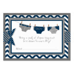 Navy Elephant Bird and Diaper Raffle Ticket Large Business Card