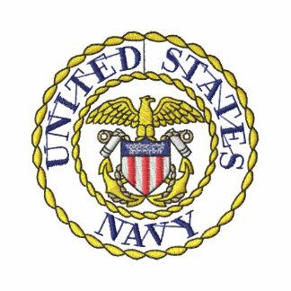 Navy Emblem Hoody
