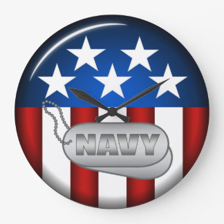 Navy Emblem Seal Insignia Badge Logo Design #1 Clocks