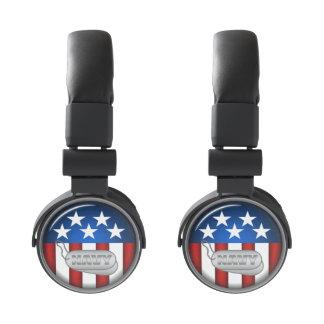 Navy Emblem Seal Insignia Badge Logo Design #1 Headphones