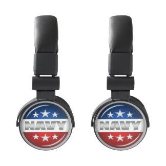 Navy Emblem Seal Insignia Badge Logo Design #2 Headphones