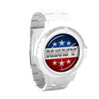 Navy Emblem Seal Insignia Badge Logo Design #2 Wrist Watch