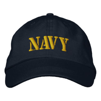 NAVY EMBROIDERED BASEBALL HAT