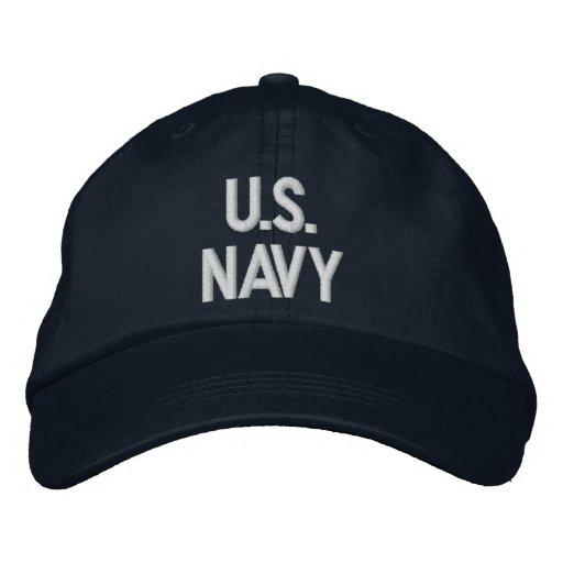 NAVY EMBROIDERED BASEBALL CAP