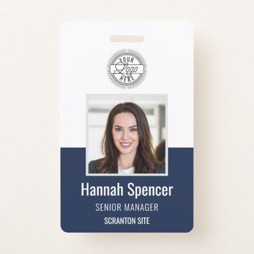 Navy   Employee Photo ID Company Security Badge