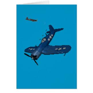 NAVY f4u corsair diving Card