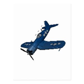 NAVY f4u corsair diving Postcard