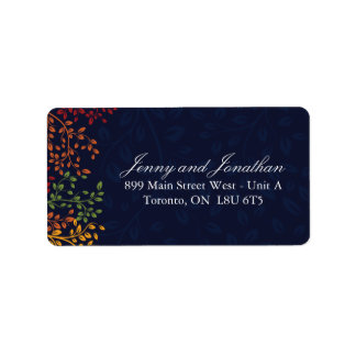 Navy Fall Address Labels