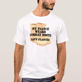 Navy Fiancee Desert Combat Boots T-Shirt