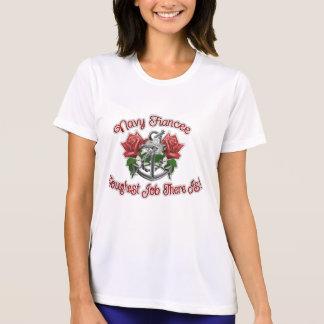 Navy Fiancee rose anchor T-Shirt