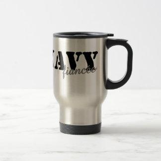 Navy Fiancee Travel Mug
