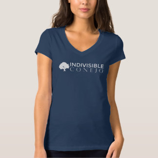 Navy Fitted V-Neck Tee
